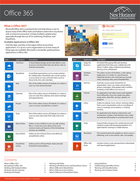 Office 365 Quick Reference Card