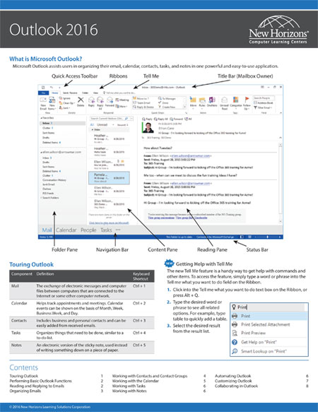 Outlook Quick Reference Card